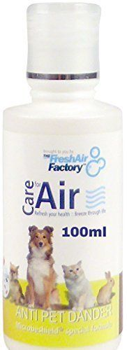 FOR AIR PURIFIERS - CareforAir Anti Pet Dander Essence 100mL -Removes Pet Dander In The Air - Wonderful Fruity Aroma - Removes Pet Odour -Best For People With Pets - Dogs, Cats, Guinea Pigs, Hamster, Parrot - Good For People With Exotic Pets Like Snakes, Spiders, Lizards - Prevent Allergies caused by Pets - Contains MicrobeShield Formula which is a Powerful Cleaner, Disinfectant And Deodorizer - USE IN REVITALIZERS, IONIZERS, HUMIDIFIERS - 100% Product Satisfaction Guarantee. CareforAir…