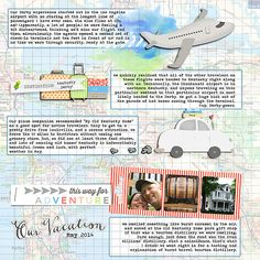 #papercraft #scrapbook #layout.  weedsandwildflowers/Gina Marie Huff/kits/The Discover Collection/pp, embellishments The Digichick/Charmbox Studios/shadow work 45 drop shadows; mixed drinks (mudslide) action, re-size for web action, ice cream shoppe (banana split) action