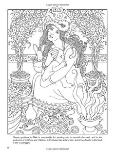 wiccan coloring pages | Goddesses Coloring Book