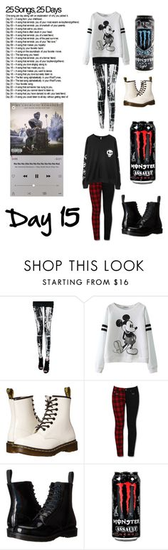 """""""Day Fithteen"""" by sup-its-alex-peace ❤ liked on Polyvore featuring Dr. Martens and Chicnova Fashion"""