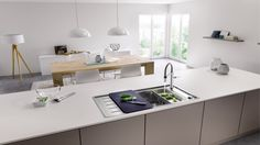 What to look out for when buying a new kitchen sink. Stainless steel sink, granite sink, ceramic sink✓ Germany's biggest sink manufacturer ✓ - does it work in y Kitchen Sink, New Kitchen, Blanco Sinks, Building A Kitchen, Sink Taps, Ceramic Sink, Stainless Steel Sinks, Mixer Taps, Range