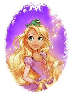 Rapunzel and Pascal.