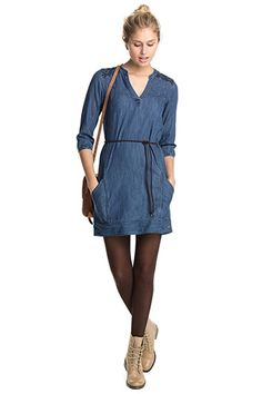 EDC / denim dress in 100% cotton