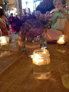 Our wedding center pieces