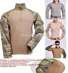 26.80$  Watch now - Military combat airsoft paintball hunting shirt US Marine Corps frog Tactical  outdoor sports Tops W / elbow Multicam  #magazineonlinebeautiful