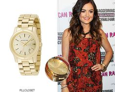 Lucy Hale at American Rag's 'All Access' Campaign | June 12, 2014 Michael Kors 'MK5160 Watch' - $195.00 Worn with:American Rag jumpsuit, American Rag sandals (not pictured)