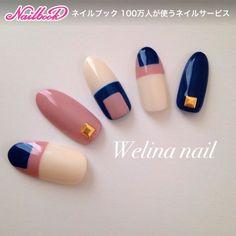 Color block nails: