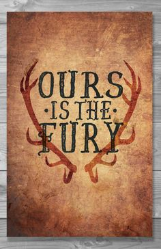 Ours is the Fury - House Baratheon  This print is either 5x7, 8x10, 11x14 or 11x17 printed on high quality 100lb white, matte cardstock in a professional printing lab.  If you would like a personalized type color, please specify in your order message.  Please look over my shop policies before purchasing: https://www.etsy.com/shop/Shaileyann/policy   -----------------------------------------------------------------  Need this sooner than the listings standard shipping?...