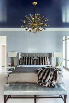 Get inspired by Glam Bedroom Design photo by Tobi Fairley Interior Design. Wayfair lets you find the designer products in the photo and get ideas from thousands of other Glam Bedroom Design photos. Glam Bedroom, Master Bedroom, Bedroom Decor, Bedroom Neutral, Design Bedroom, Bedroom Furniture, Furniture Ideas, Bedroom Ideas, Decoracion Vintage Chic