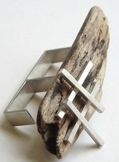 Rosie White, drift wood found on East Yorkshire Coast, sterling silver
