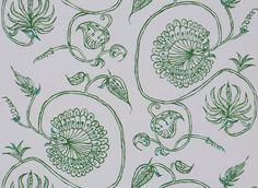 Jessie Emerald Wallpaper from Mally Skok Design