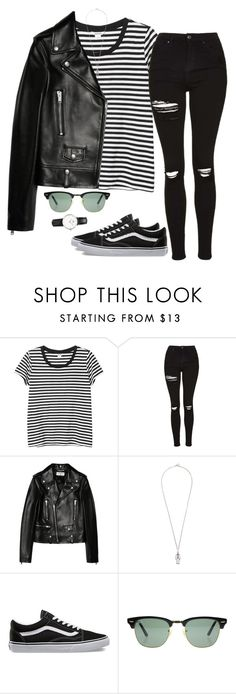 """Untitled #10"" by mikasma ❤ liked on Polyvore featuring Monki, Topshop, Yves Saint Laurent, Diesel, Vans and Ray-Ban"
