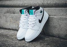 "http://SneakersCartel.com Air Jordan 1 Mid BG ""Hyper Jade"" #sneakers #shoes #kicks #jordan #lebron #nba #nike #adidas #reebok #airjordan #sneakerhead #fashion #sneakerscartel"