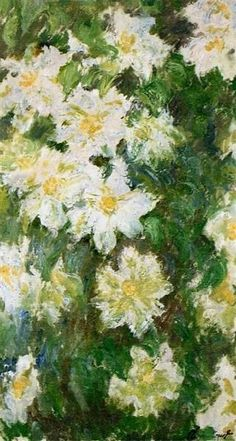 White Clematis 1887 Claude Monet