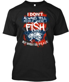 Fly Fishing Lies Black T-Shirt Front