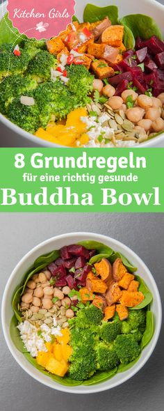 We tell you what a Buddha Bowl is and give you the basic recipe and our favorite recipe! The post Basic recipe for Buddha Bowl appeared first on Food Monster. Healthy Salad Recipes, Vegetable Recipes, Vegetarian Recipes, Healthy Snacks, Vegetarian Cooking, Vegetable Noodles, Vegetable Bowl, Thai Recipes, Shrimp Recipes