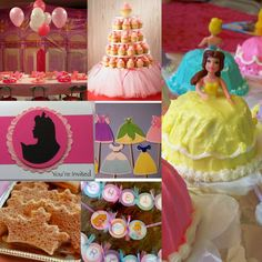 cup cake picks  fancy cut sandwiches  cake stand with tulle