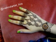 Beautiful jewellery henna mehndi design