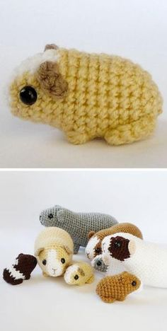 Amigurumi Guinea Pig (or hamster) pattern. The perfect solution for when they (or you) are not quite ready for a pet yet. Amigurumi Guinea Pig (or hamster) pattern. The perfect solution for when they (or you) are not quite ready for a pet yet. Crochet Patterns Amigurumi, Knit Or Crochet, Cute Crochet, Crochet Crafts, Crochet Dolls, Yarn Crafts, Knitting Patterns, Crochet Birds, Simple Crochet