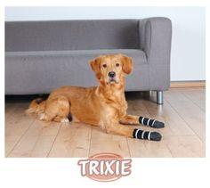 Aus der Kategorie Pfotenschutz  gibt es, zum Preis von EUR 8,39  <br> - Baumwolle mit Elasthan/Latex  <br> - vorderer Bereich rundum mit robuster Anti-Rutsch-Gummierung, für sicheren Halt auch beim Verrutschen der Socken  <br> - besonders für ältere Hunde geeignet  <br> - idealer Pfotenschutz  <br> - schützen bei kleinen Wunden  <br> - schonen Fußböden und Möbel  <br> - Farbe: schwarz  <br> - bis 30 °C waschbar  <br>