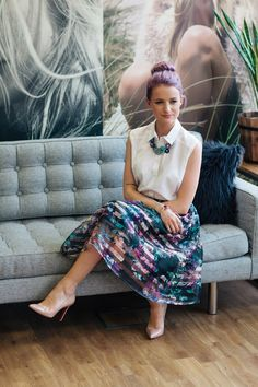 PrimarkMeets Inthefrow | Inthefrow // LOVE the skirt, and the shirt/skirt necklace combo looks v polished.