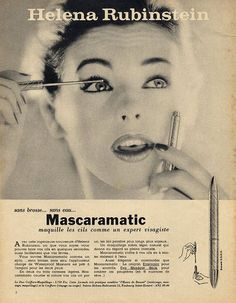 Mascaramatic, Helena Rubinstein, 1958.  I used to love  this mascara -- never any clumps.  Wish they still made it.