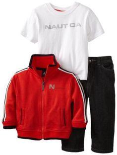 Nautica Sportswear Kids Baby-boys Infant Great Fit Zipup Jacket Set, Bright Orange, 12 Months Nautica. $30.00