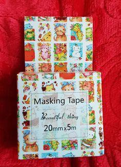Fita Adesiva Washi Tape - para Scrap Book - em Papel de Arroz  Caixa contém 5 m de fita de 20 mm de largura.
