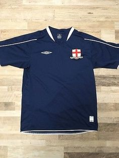 422bb4853 Umbro England National Team Football Soccer Mens Embroidered Jersey Size M