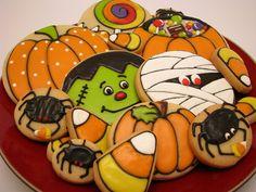 halloween cookie designs decorated sugar cookies on pinterest cute halloween - Halloween Cookies Decorating Ideas