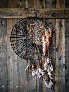 Dark Night Extra Large Dreamcatcher by DreamShaperDesigns on Etsy