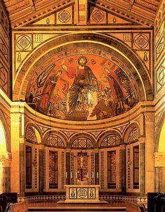 Церковь свв. Апостолов Сан Миниато аль Монте во Флоренции. Алтарь. 1013 - 1063 гг.
