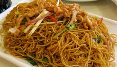 Fried noodles with sausage - oyster sauce, fish sauce, soy sauce, dash of chicken stock