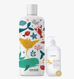 babe package design, illustraton, underwater Babe, Package Design, Underwater, Shampoo, Packaging, Illustrations, Bottle, Cleanser, Packaging Design