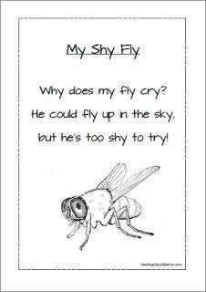 Long I sound -y words- free poem worksheet to download in October.