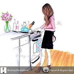 Repost from @melsysillustrations - Tag someone that loves to cook/bake! All of…