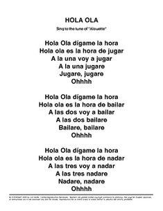 Hola-Ola-Spanish-Song-for-future-tense-and-Lesson-Plan-87712 Teaching Resources - TeachersPayTeachers.com