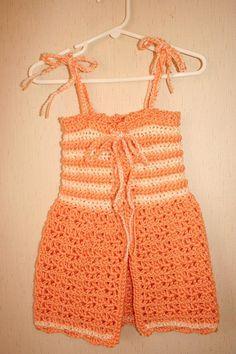 Little Girls Reversible Halter Top Sundress 2T 3T by BlissfulFiber, $14.50