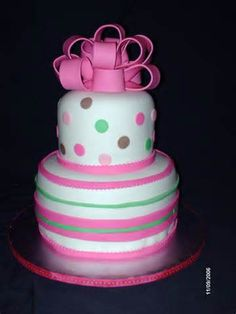 polka dots and stripes cake - Bing Images