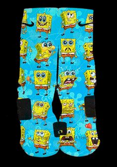Spongebob Custom Nike Elite Socks by EliteHeadquarters on Etsy, $24.99