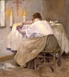 Her first born by Robert Reid - what a beautiful but so very sad painting...