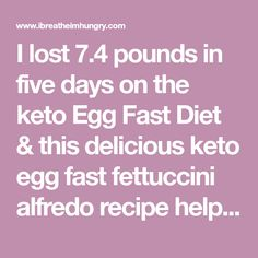 I lost pounds in five days on the keto Egg Fast Diet & this delicious keto egg fast fettuccini alfredo recipe helped keep me on track! Eggfast Recipes, Banting Recipes, Low Carb Recipes, Recipies, Keto Pasta Recipe, Alfredo Recipe, Keto Egg Fast, Egg Diet, No Carb Diets