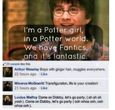"Sing it in the ""I'm a Barbie Girl"" tune #HarryPotter"