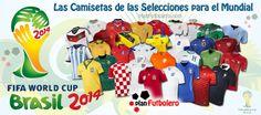 Las camisetas de las Selecciones para el Mundial de Brasil 2014 (I)