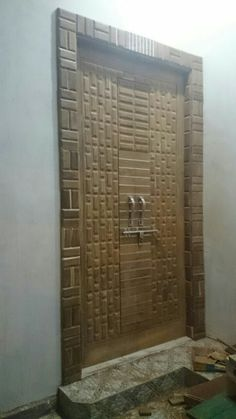Wooden Door Design, Main Door Design, Wooden Doors, Bed Design, House Design, Modern Front Door, False Ceiling Design, Entrance Doors, Temples