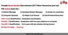 Punjab #Sewa #Kendra Recruitment 2017 | New Vacancies just out:-