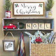 Farmhouse Christmas Decorating Ideas (35)