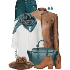 Tan and Teal by angkclaxton on Polyvore featuring Vero Moda, La Marque, ONLY, Topshop, Bally and Sonoma life + style