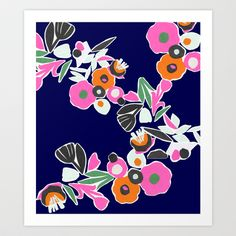 Cut Floral Art Print by Kerrie Cauvin - $20.00