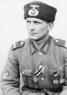 Soldier of The XV SS Cossack Cavalry Corps, whish was a German cavalry corps during World War II.